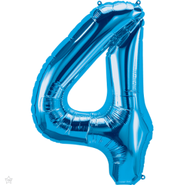 """34"""" Numero 4 Blue (86cm)"""