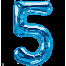 """34"""" Numero 5 Blue (86cm)"""