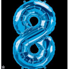 """34"""" Numero 8 Blue (86cm)"""