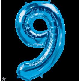 """34"""" Numero 9 Blue (86cm)"""