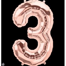 """34"""" Numero 3 Rose Gold (86cm)"""