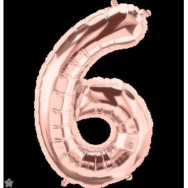 """34"""" Numero 6 Rose Gold (86cm)"""