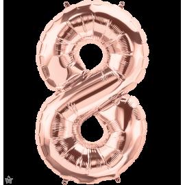 """34"""" Numero 8 Rose Gold (86cm)"""