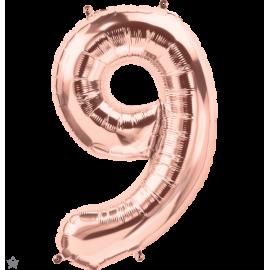 """34"""" Numero 9 Rose Gold (86cm)"""
