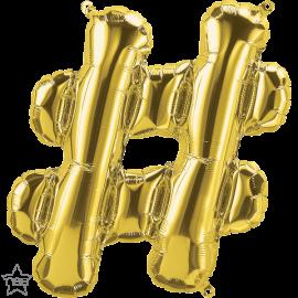 "16"" Hashtag (41cm) Gold (minimo 3 unid)"