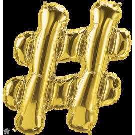 """34"""" Hashtag (86cm) Gold"""