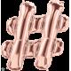 """34"""" Hashtag (86cm) Rose Gold"""