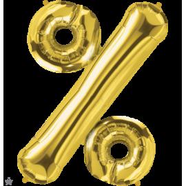 """34"""" Percent Symbol (86cm) Gold"""