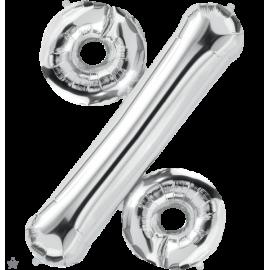 """34"""" Percent Symbol (86cm) Silver"""