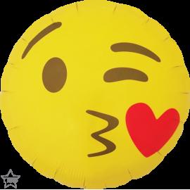 "18"" Emoticin Kissing Heart (Minimo 3 unid)"