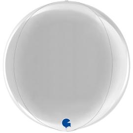 """15"""" Globe Esfera Silver 4d (38cm) (minimo 3 unid)"""