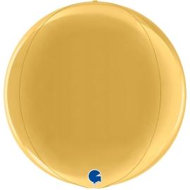 """15"""" Globe Esfera Gold 4d (38cm) (minimo 3 unid)"""