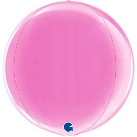 """15"""" Globe Esfera Fuxia 4d (38cm) (minimo 3 unid)"""