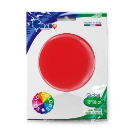 """15"""" Globe Esfera Red 4d (38cm) (minimo 3 unid)"""