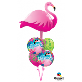 "18"" Birthday Tropical Flamingo (min 3 unid)"