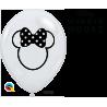 """11"""" Disney Minnie Mouse Slhouett (25ct) Trasnparente"""