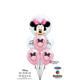 "11"" Disney Minnie Mouse Slhouett (25ct) Trasnparente"