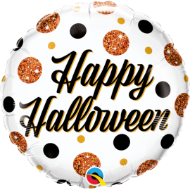 """9"""" Halloween Sparkly Dots (Minimo 5 unid) Air-Fill"""