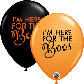 "11"" Simply Here For The Boos (25ct)"