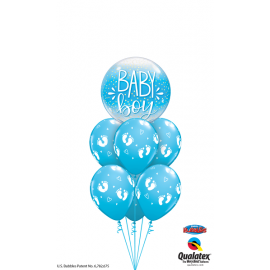 "22"" Baby Boy Blue & Confetti Dots (Minimo 3 unid)"