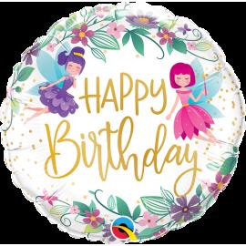 "18"" Birthday Wild Flower Fairies (Minimo 3 unid)"