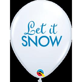 "11"" Simply Let It Snow (25 unid)"