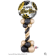 """18"""" New Year Black & Gold Fans (Minimo 3 unid)"""