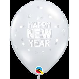 "11"" New Year Sparkles & Dots (25ct) Tranparente"