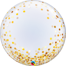 "24"" Deco Bubble confeti dorado (minimo 3 unid)"