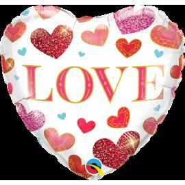 "18"" Love Jewel Hearts (Minimo 3 unid)"