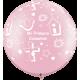 """30"""" Mi Primera Comunion Pink (2ct)"""