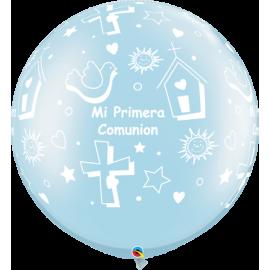 """30"""" Mi Primera Comunion Prl Pale Blue (2ct)"""