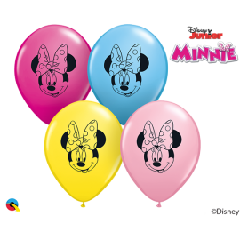 "5"" Disney minnie Mouse Face (100ct)"