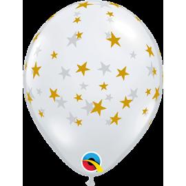 """05"""" Contempo Stars (100 unid ) Trasnp- estrellas- Doradas"""