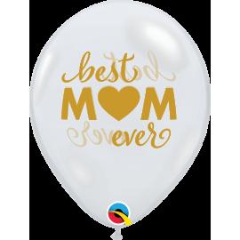 "11"" Best Mom (25ct) Transparente"