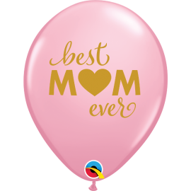 "11"" Best Mom (25ct) Pink"