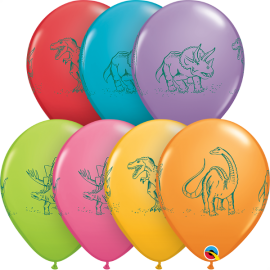 "11"" Dinosaurs Action (50ct) Surtido"