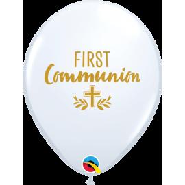 "11"" Fist Communion Cross (25ct) White"