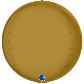 """15"""" Globe Esfera Satin Gold 4d (38cm) (minimo 3 unid)"""