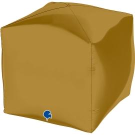 """15"""" Cubo, Square Satin Gold 4d (38cm) (minimo 3 unid)"""