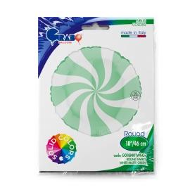 "18"" Swirly White -Matte Green (Minimo 3 unid)"