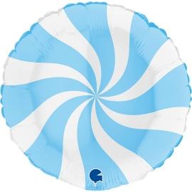 "18"" Swirly White -Matte Blue (Minimo 3 unid)"