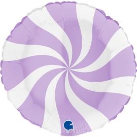 "18"" Swirly White -Matte lilac (Minimo 3 unid)"