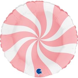 "18"" Swirly White -Matte Pink (Minimo 3 unid)"