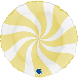 "18"" Swirly White -Matte Yellow (Minimo 3 unid)"