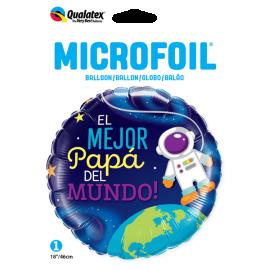 """18"""" EL Mejor Papá del Mundo (Minimo 3 unid)"""