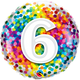 """18"""" Rainbow Confetti 6 (01ct) Minimo 3 unid"""