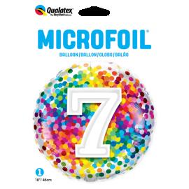 """18"""" Rainbow Confetti 7 (01ct) Minimo 3 unid"""