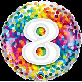 """18"""" Rainbow Confetti 8 (01ct) Minimo 3 unid"""