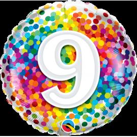 """18"""" Rainbow Confetti 9 (01ct) Minimo 3 unid"""